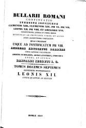 Tomus Decimus Septimus Continens Pontificatus Leonis XII  Annum Quartum Ad Sextum PDF