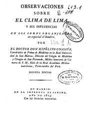 Observaciones sobre el clima de Lima y sus influencias en los seres organizados, en especial el hombre