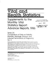 Vital and health statistics: Compilations of data on natality, mortality, marriage, divorce, and induced terminations of pregnancy, Issue 3