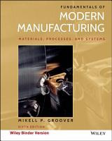 Fundamentals of Modern Manufacturing  Binder Ready Version PDF
