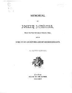 Memorial of Josiah Kendall