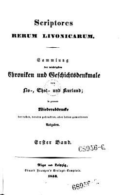 Origines Livoniae  sacrae et civilis  illustr  Ivan Dan  Gruber  hrsg  von Hansen  PDF