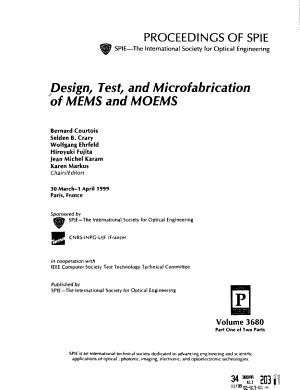 Design  Test  and Microfabrication of MEMS and MOEMS PDF