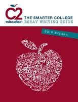 C2 Education The Smarter College Essay Writing Guide 2010 Edition PDF