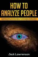 How to Analyze People PDF