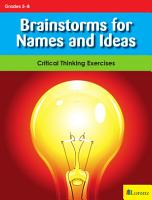 Brainstorms for Names and Ideas PDF