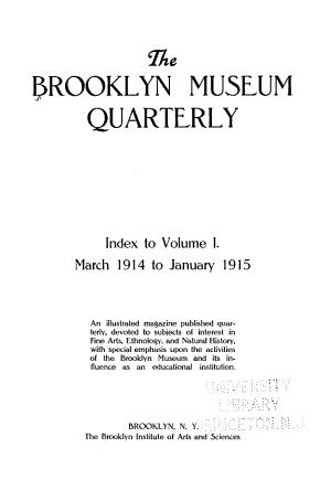 The Brooklyn Museum Quarterly