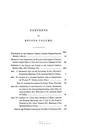 Journal of the American Oriental Society: Volume 2