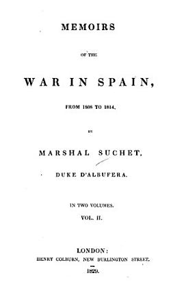 Memoirs of the War in Spain  from 1808 to 1814 PDF