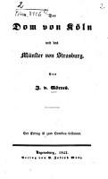 Der Dom von K  ln und das M  nster von Strasburg PDF