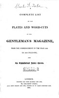 A Complete List of Plates and Woodcuts in the Gentleman s Magazine PDF