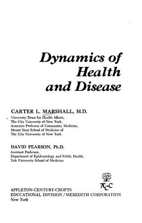Dynamics of Health and Disease PDF