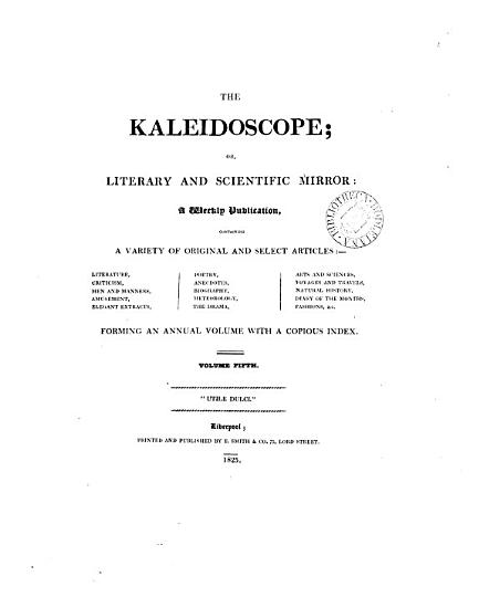 The Kaleidoscope  or  Literary and scientific mirror PDF