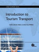 Introduction to Tourism Transport PDF