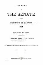 Debates of the Senate: Official Report (Hansard)