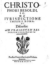 De iurisdictione imperii Romani discursus, ad praesentem reipublicae Germanicae faciem accommodatus