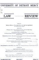 University of Detroit Mercy Law Review PDF