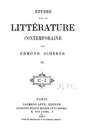Études sur la littérature contemporaine: Volume9