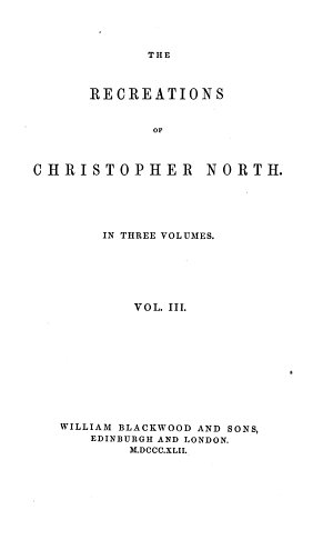 The Recreations of Christopher North