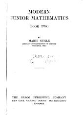 Modern junior mathematics: Volume 2