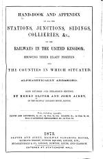 Hand-book and Appendix of All the Stations, Junctions, Sidings, Collieries, &c., on the Railways in the United Kingdom