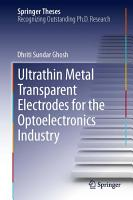 Ultrathin Metal Transparent Electrodes for the Optoelectronics Industry PDF