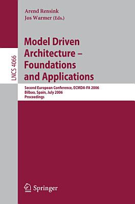 Model Driven Architecture   Foundations and Applications