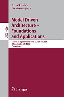 Model Driven Architecture   Foundations and Applications Book