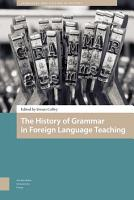 The History of Grammar in Foreign Language Teaching PDF