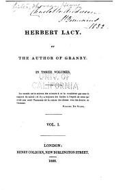 Herbert Lacy: Volume 1
