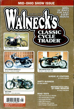 WALNECK S CLASSIC CYCLE TRADER  AUGUST 2002 PDF