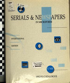 Serials   Newspapers in Microform PDF