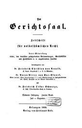 Der Gerichtssaal: Zeitschrift für Zivil- und Militär-Strafrecht und Strafprozessrecht sowie die ergänzenden Disziplinen, Band 7,Teil 2;Band 14