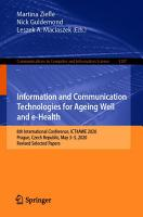 Information and Communication Technologies for Ageing Well and e Health PDF