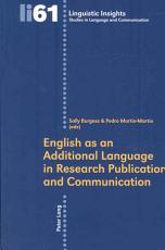 English as an Additional Language in Research Publication and Communication PDF