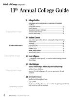 Winds of Change Magazine s Annual College Guide for American Indians PDF