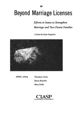 Benefits of a Healthy Marriage PDF