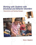 Working with Students with Emotional and Behavior Disorders