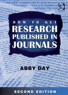 How to Get Research Published in Journals PDF