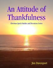 An Attitude of Thankfulness