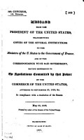 Presidential Message on Spoliations Committed by France on Commerce of the United States PDF