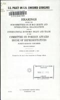 U S  Policy on U N  Consumer Guidelines PDF