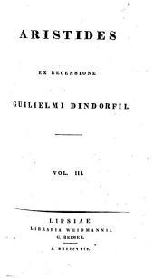 Aristides: Volume 3