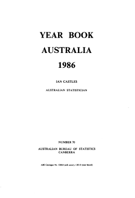 Year Book Australia  1986 No  70 PDF