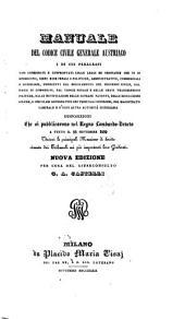 Manuale del codice civile generale austriaco (etc.)