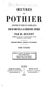 Œuvres de Pothier: Volume6