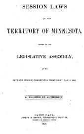 Session Laws of the Territory of Minnesota Passed by the Legislative Assembly