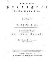 Ungedruckte Predigten Dr. M. Luthers