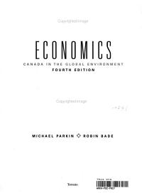 Economics  Canada in the Global Environment  Fourth Edition  Michael Parkin  Robin Bade  Study Guide PDF