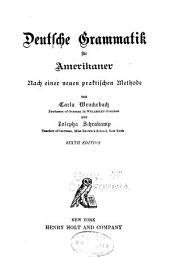 Deutsche grammatik für Amerikaner: nach einer praktischen methode